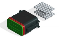DEUTSCH DT06-12S CONNECTOR KIT